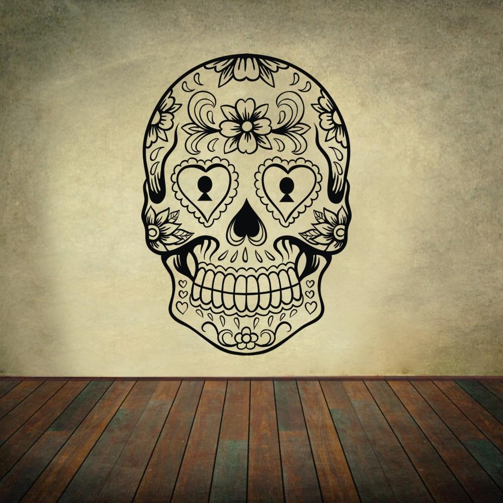 Aliexpress.com : Buy Sugar Skull mexico floral swirl home ...