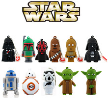 11 estilos Pen drive Star wars darth vader 4 GB/8 GB/16 GB/32 GB/64 gb flash drive BB-8 R2D2 robot usb 2.0 de memoria flash stick pendrive
