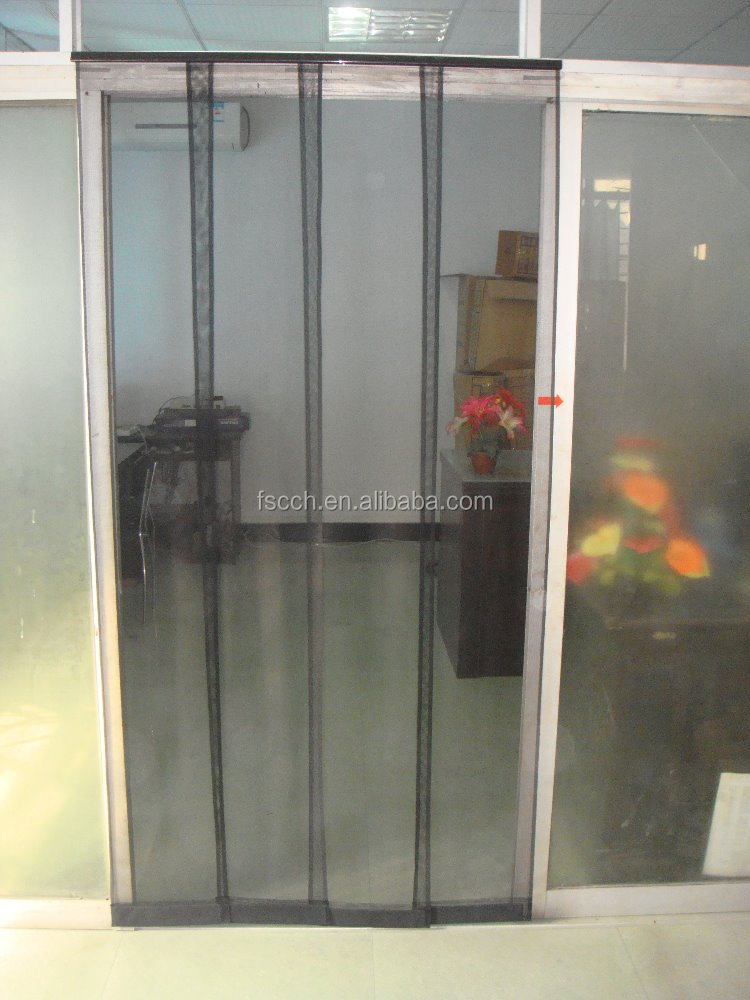 Charmant Adjustable Door Screen Curtain/four Pieces Fly Screen Door Mesh   Buy Screen  Door Curtain,Fly Screen Door Mesh,Screen Door Product On Alibaba.com