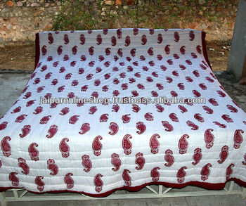 indian designer king size cotton blankets quilts
