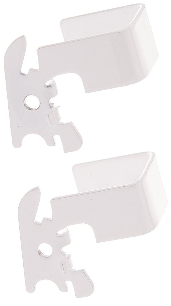 "Wall Control 10-CB-011 W C-Bracket Slotted Metal Pegboard Hook for Wall Control Pegboard Only, 1"" x 1"", White"