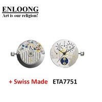 ENLOONG Customized Luxury Real Swiss Made Watches Mechanical Movement Chronograph Automatic OEM ETA Watch Movement ETA 7751