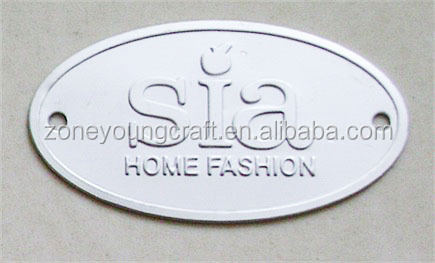Embossing oval metal name plate