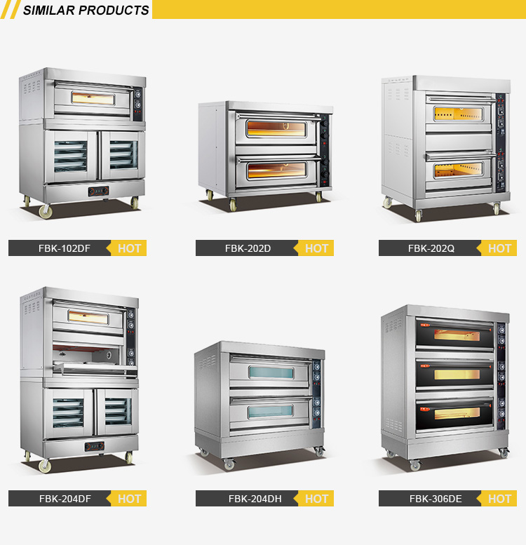 Commercial Stainless steel bakery oven 3 Layers 6 Trays Gas Oven