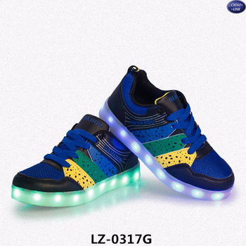 a8980c40c 2015 Fashion shining glowing kid simulation led light up shoes sneakers kid  shoe