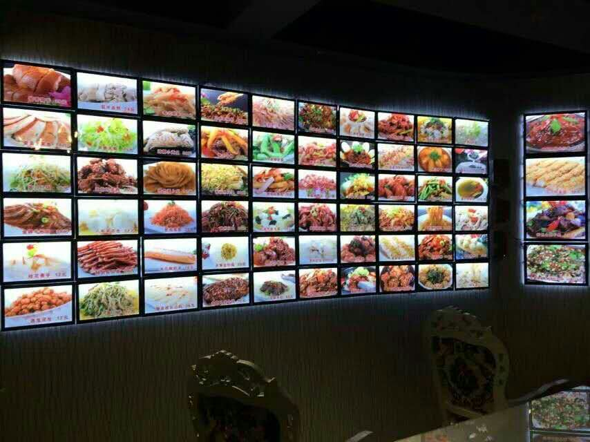 Edgelight CF7 mangetic led menu board picture framing