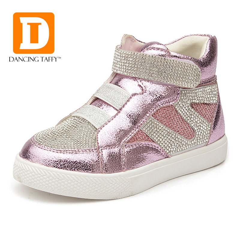 New 2015 Autumn & Winter Fashion Children Shoes Casual Children Sneakers Crystal Kids Shoes Diamond Shining Kids Boots For Girls