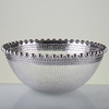 Promotional cheap electroplated glass bowl beaded decorative glass salad bowl