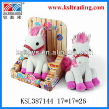 white voice recording horse electric toys for kids