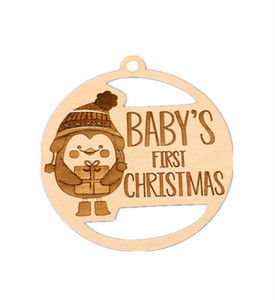 Laser cutting Christmas decoration wooden hanging ornaments