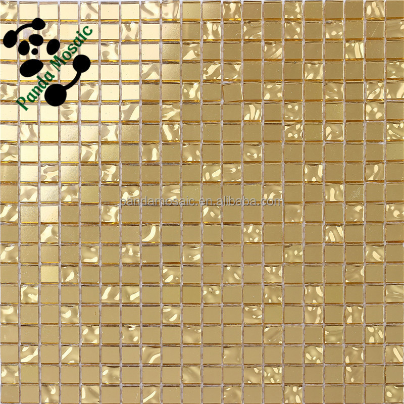 Smg13 Luxury Bathroom Tiles Waterproof Wallpaper For Bathrooms Gold Mosaic Tile