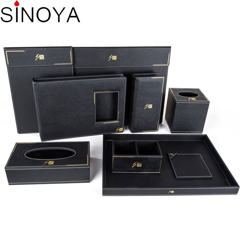 Luxury 2017 natural hotel accessories leather Sets / Hotel room furniture