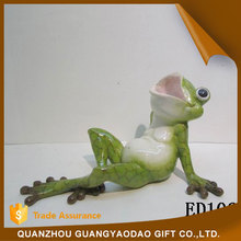 Animal Gift home decoration pieces laughing lying frog in spring home decoration items