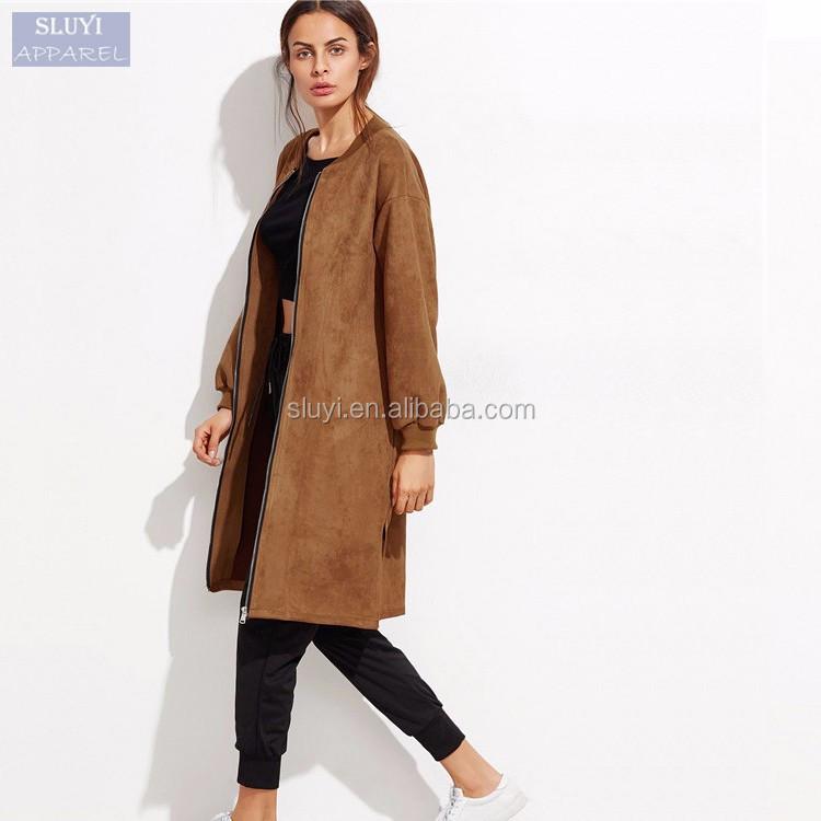Warm Fur Coat Vintage Casual Long Turkish Women Coats Zipper Suede ...