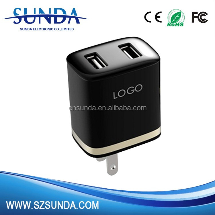 Travel Charger For Samsung/Iphone Mobile Phone Dual USB Port Wall Charger