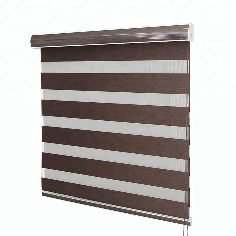 Leinen Polyester stoff Zebra dual rollos/dual roller shades