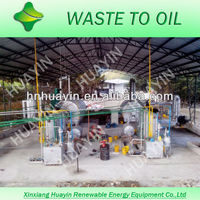 Huayin high quality scrap tyre refinery equipment used to energy