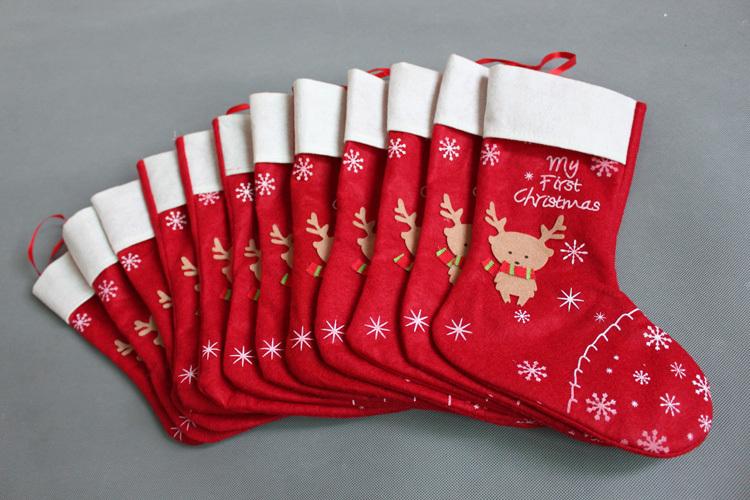2016 New Style Handmade Christmas Stocking Sock Xmas