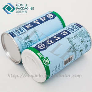 Paperboard Powder Tubes With White Sifter Caps, Paperboard
