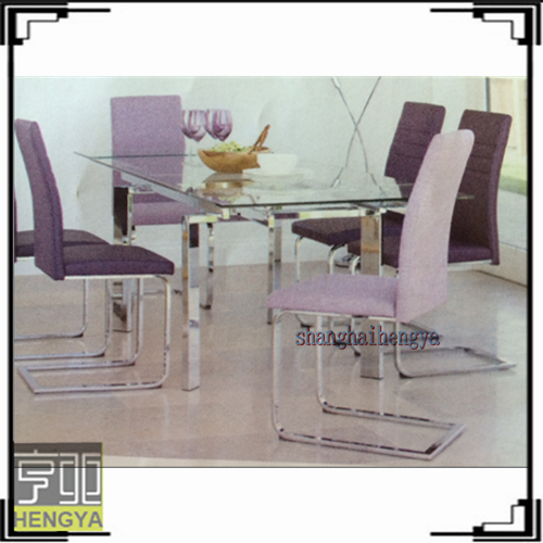Malaysia Royal Design Black And Purple Dining Table Set