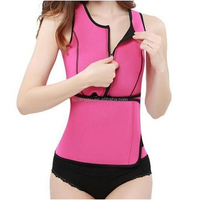 Hot sale Neoprene Sauna Waist Trainer Vest Hot Shaper Summer Workout Shaperwear Slimming Adjustable Sweat Belt Fajas Body Shaper