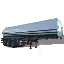 stainless steel tri axle steel oil tanker semi trailer