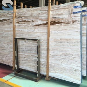 Polished pink wooden travertine onyx stone slabs price