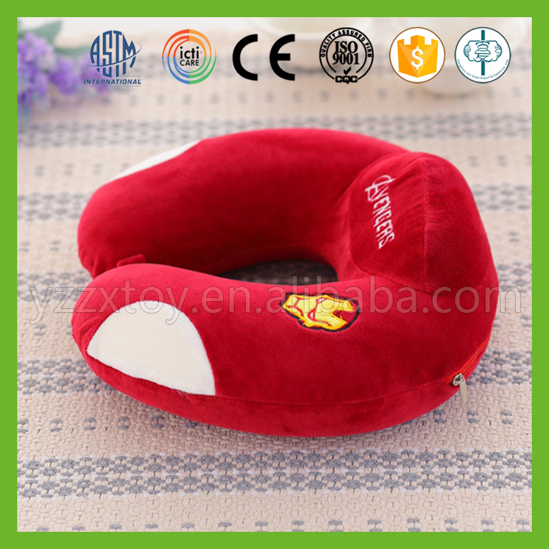 Wholesale red soft traveling u shape neck support pillow