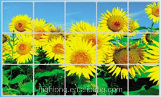 Tegel Decoratie Stickers : Muursticker voor keuken decoratie zon bloem tegel sticker folie