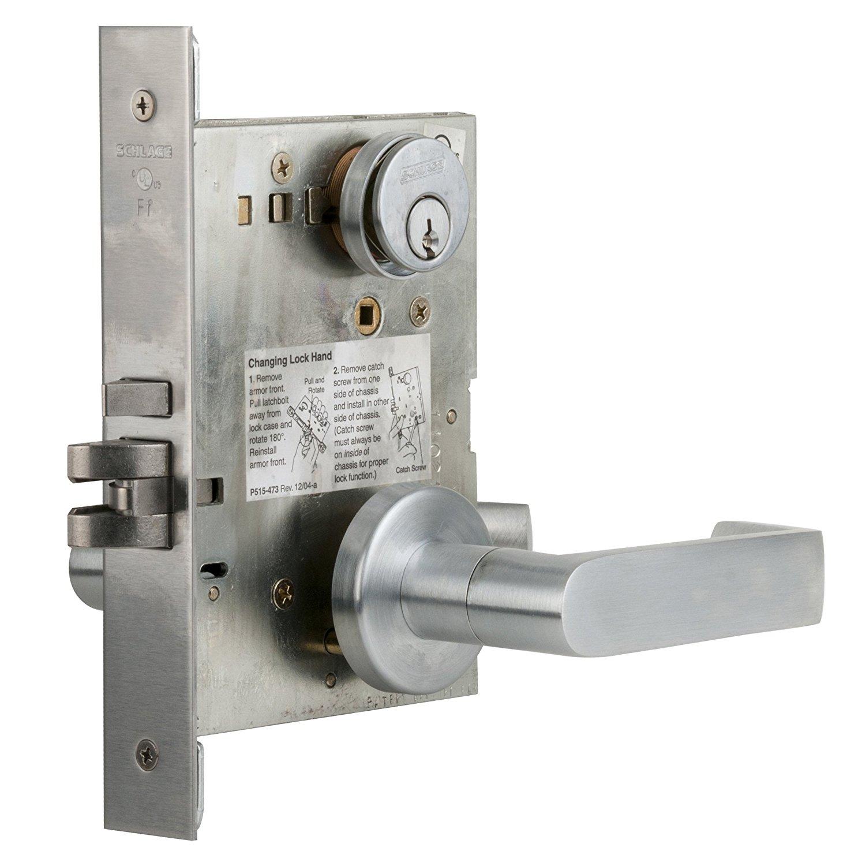 Schlage L9453LB L-Series Commercial Grade 1 Mortise Keyed Entry Single Cylinder