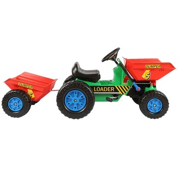 dumper pedal car for kids rides on trailer toy tractor 412