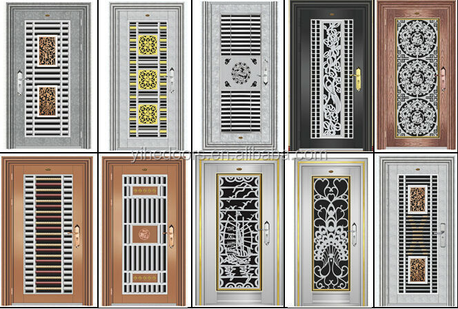 Latest stainless steel grill door design stainless steel for Door design steel