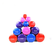 Hot Sale Colorful Tangan Bobot Padat Kebugaran Vinyl Mencelupkan <span class=keywords><strong>Dumbbell</strong></span>