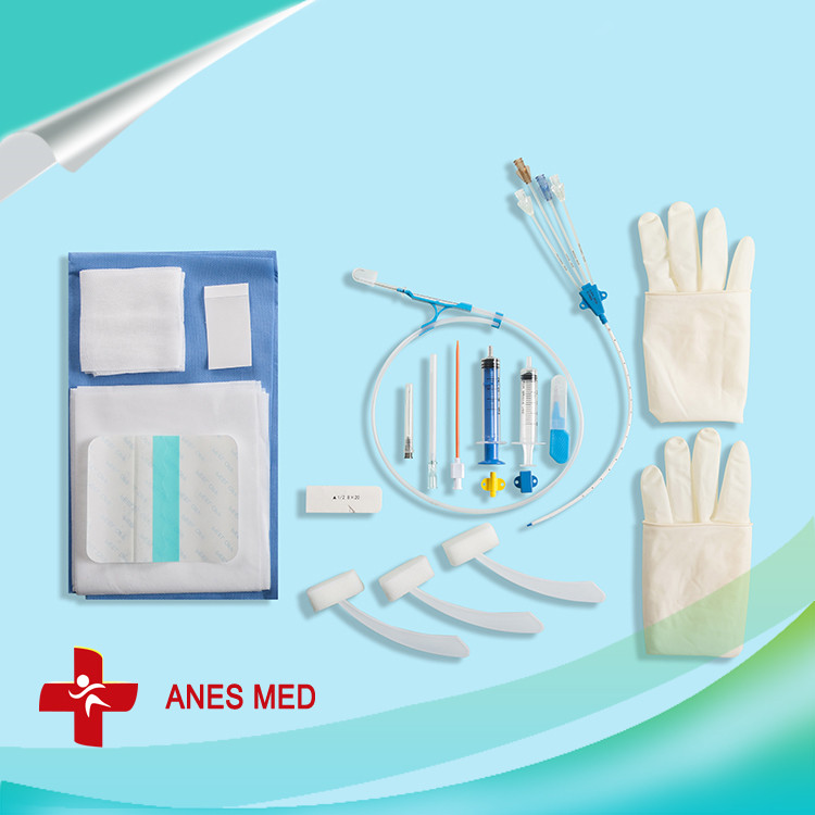 Medical Catheter Central Venous Four Lumen Disposable Catheter Kit