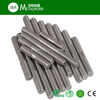 M8 M10 M12 A2 A4 Stainless Steel Stud Bolt And Nut DIN939