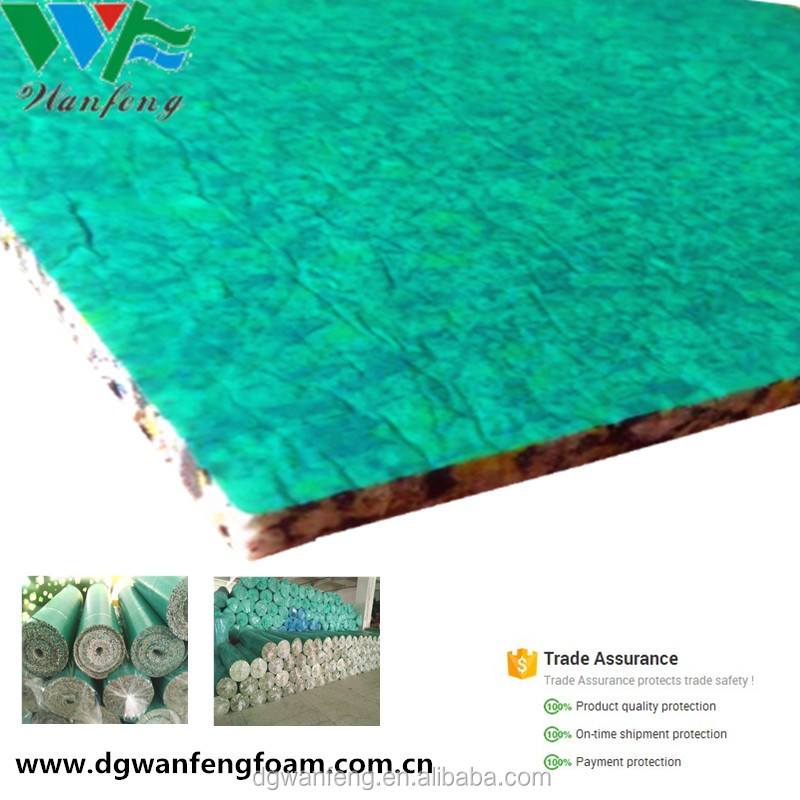 Waterproof PE Laminate 3mm 4mm foam carpet underlay