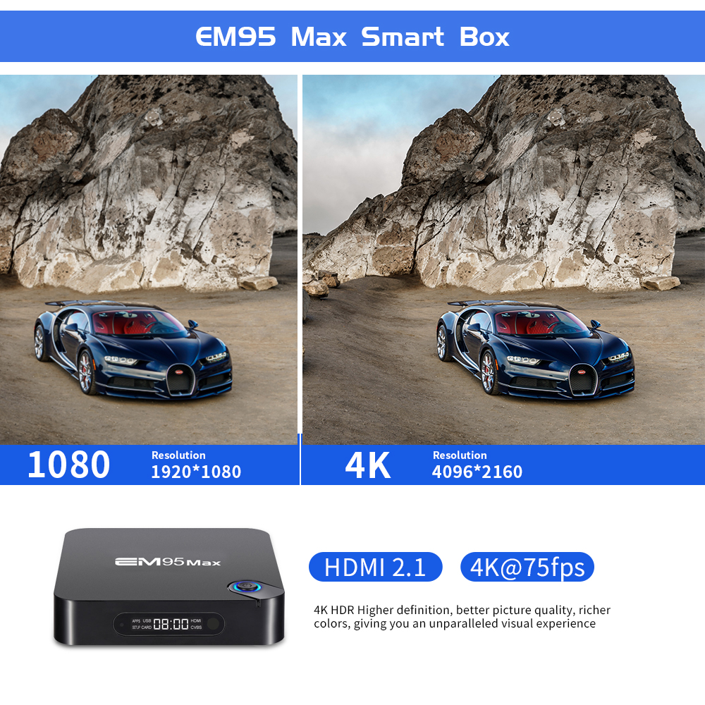 Amlogic S905X2 Quad Core Tablet Dual WIFI 4K Support Resolution Enybox Adroid TV Box 9.0