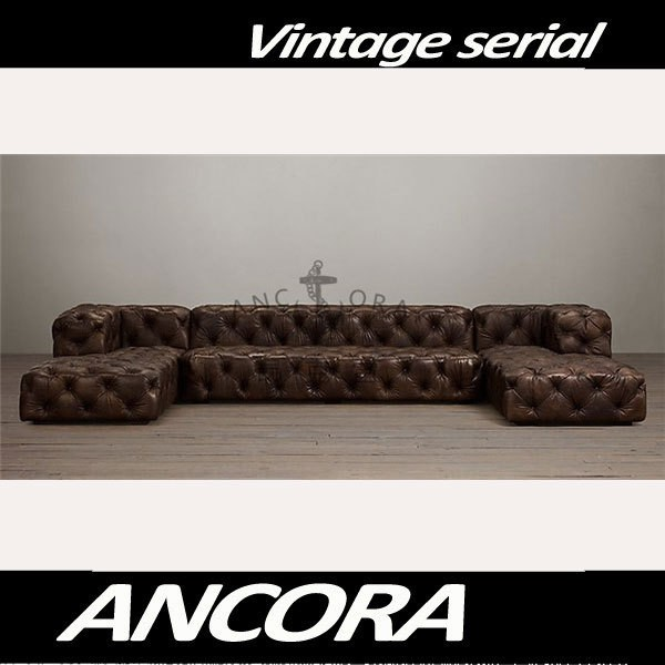Antique leather chaise lounge tufted leather sofa set A129  sc 1 st  Alibaba : tufted leather chaise - Sectionals, Sofas & Couches