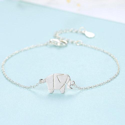 bracelet argent avec elephant