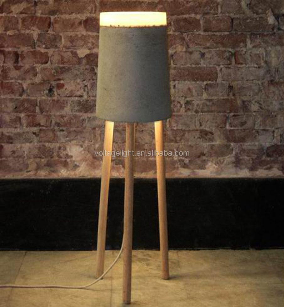 Modern Design Concrete Floor Lamp Classic Ceramic Standing Lamp ...