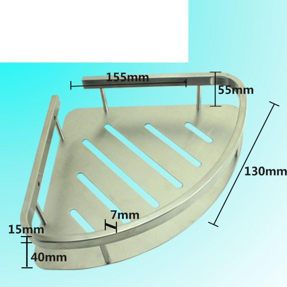 Stainless steel triangular basket/Double-pod/Racks/Bathroom corner rack/Bathroom corner brackets/Racks-D