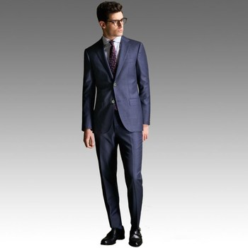 OEM clothing custom suit labels 100%wool super 130s made to measure mens 2 piece suit