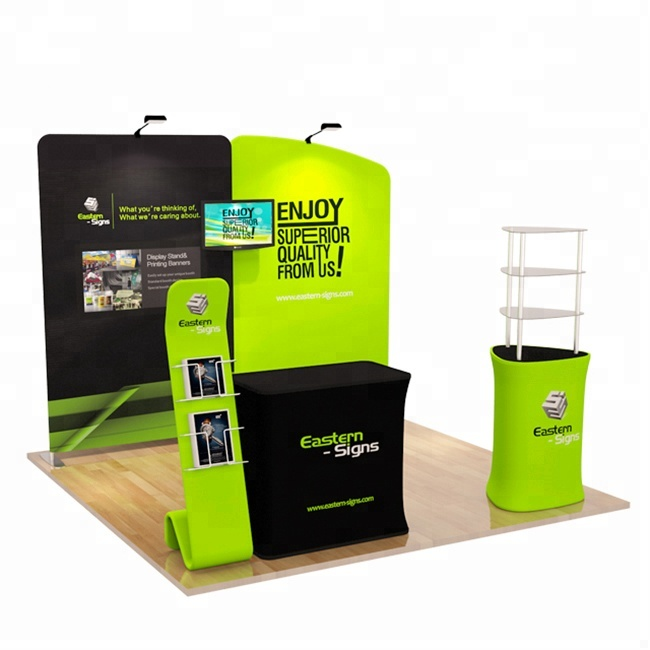 Vendita calda 10ft portatile fiera standard exhibition stand 3x3 display