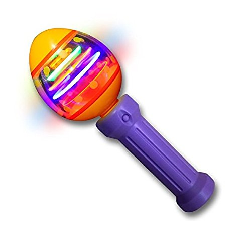 Light Up Spinning Egg Easter Toy
