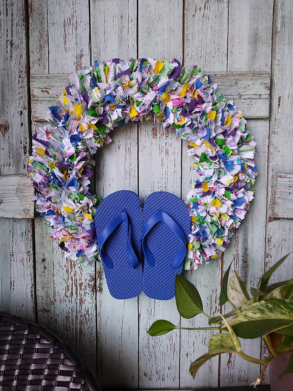 0dfd9e87e8a7 Get Quotations · flip flop wreath flip flop decor summer wreath beach wreath  wall decor mothers day wreath housewarming