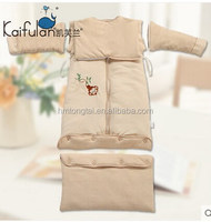 cotton Detachable bottom & long sleeves baby kids sleeping bag