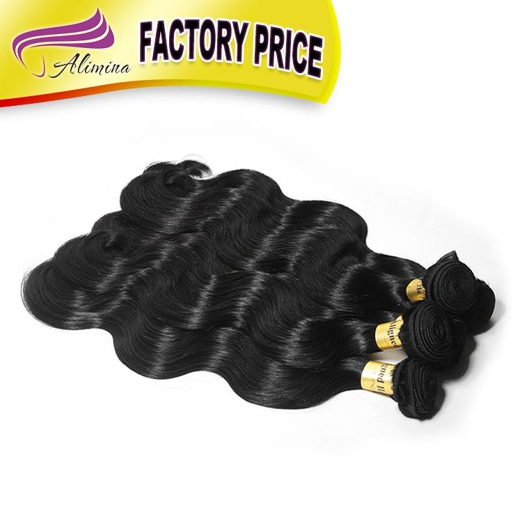 Alimina hot selling best brazilian hair, unprocessed 100 natural hair extensions, virgin expression braiding hair