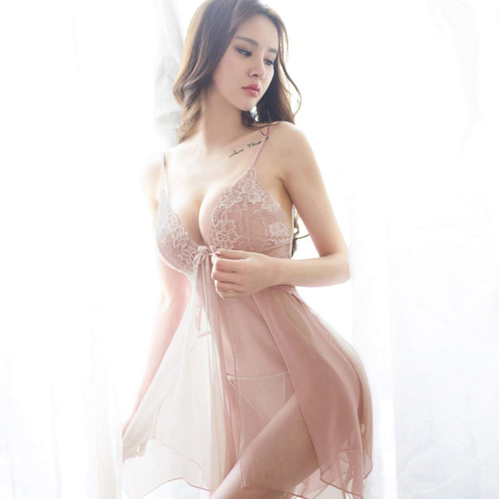 1cfb6e7febe2d Get Quotations · SMSM Lure Sexy Lingerie Lace Transparent Tape Ladies Night  Skirt Thin Section Home Service Sexy Pajamas