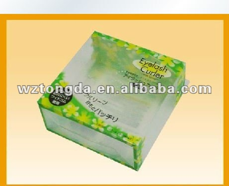 eyelash curler plastic pvc packaging box