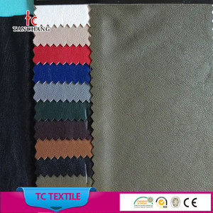 wholesale 11 colors pu leather fabric 100% pu synthetic leather for clothing TCPU-HEZ